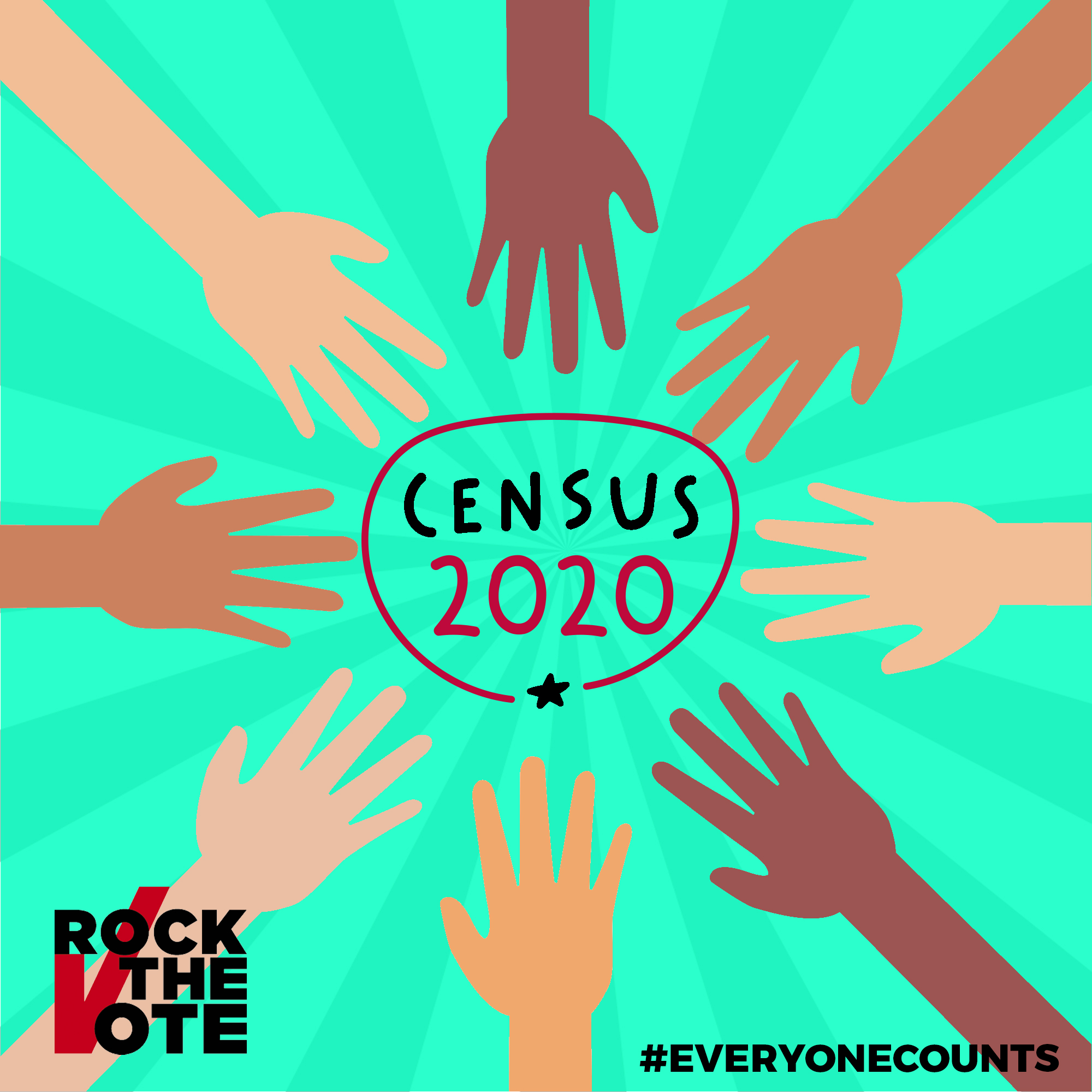 Everyone Counts – Hands In – Rock The Vote